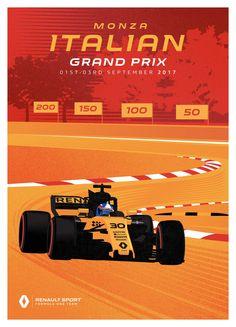 Renault Sport F1 Team poster Grand Prix van Italië - 2017
