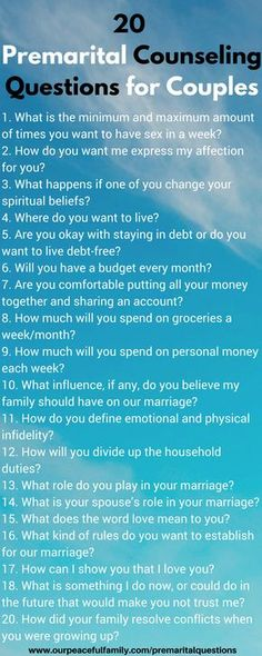 Premarital Counseling Questions - Discover the 25 questions every engaged couple must discuss before getting married.