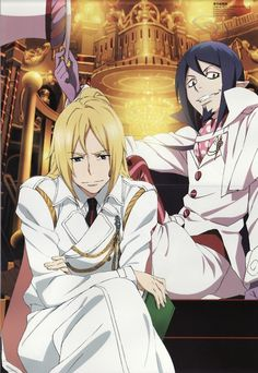 ao no exorcist. Mephisto and that one guy... Something Angel something lol