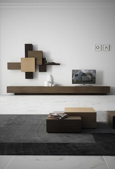 Furniture Collection Collage With Artful Living Wall Modern Tv Cabinet, Tv Cabinet Design, Tv Wall Design, Tv Furniture, Living Room Furniture, Furniture Design, Home Design, Interior Design, Living Room Tv