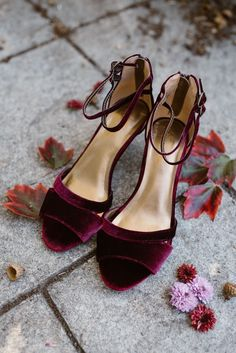 ALL THE HEART EYES for this plum and burgundy velvet wedding! The beautiful details and how Kylee and Jill weaved their personalties into their wedding day will make us go pinning and gawking for days tirelessly. Obsessed does not even begin to describe h Burgundy Wedding Shoes, Fall Wedding Shoes, Converse Wedding Shoes, Wedge Wedding Shoes, Bride Shoes, Colorful Wedding Shoes, Burgundy Shoes, Casual Wedding, Prom Shoes