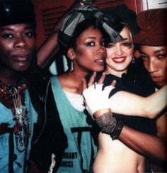 Madonna with friends. Photo by Maripol.