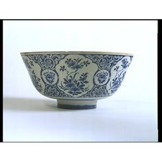 this bowl is made and found in Brislington, United Kingdom, it is Tin-glazed earthenware, painted with blue color, it is made between 1725 to 1735.it is about 14.8 cm tall and 29,6 cm wide. it is mostly use for decoration