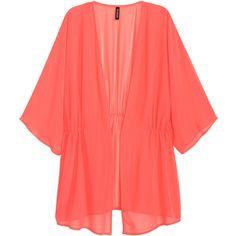 Chiffon Kimono $17.99 (32 BAM) ❤ liked on Polyvore featuring intimates, robes, short kimono, kimono robe, chiffon robe, short robe and short kimono robe