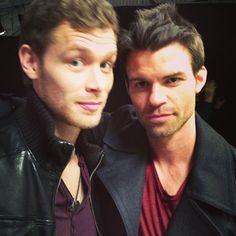 Joseph Morgan and Daniel Gilles