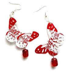 Coca Cola Butterfly Earrings