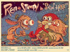 The Ren And Stimpy Show In Svën Höek Nickelodeon Shows Nickelodeon Bristol Board