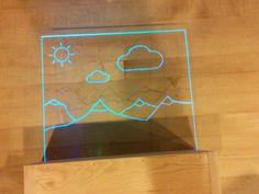 LED Acrylic edge lit art and sign #decoration