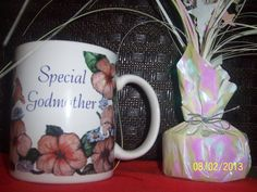 Coffee Cup Special Grandmother Gift Flower by NAESBARGINBASEMENT, $4.00