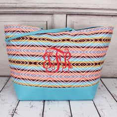 Use this as a shopping tote or a beach bag.either way, it's sure to pop! Beach Weather, Spring Break, Monogram, Dreams, Pop, Wallet, Canvas, Bags, Collection