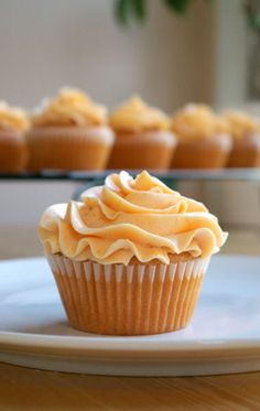 Peach Cupcakes with Peach Buttercream | Delicious Cooking