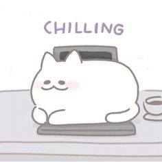 Just chillin. By Mallow Cat Kitten Baby, Cat Aesthetic, Chill, Character Design, Snoopy, Cartoon, Wallpaper, Cats, Animals