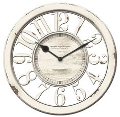 household items: Firstime Antique Vintage Wall Clock Kitchen Living Modern Decor Home 3D Art New! BUY IT NOW ONLY: $38.0
