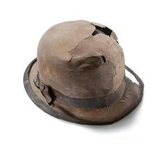 Bowler hat recovered from the Titanic wreckage, 1912.