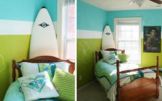 Ideas para decorar casas con tablas de surf