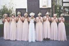 Illusion Bateau Neck Lace And Tulle Blush Pink Bridesmaid Dresses [TBQP301] - $169.00 : Custom Made Wedding, Prom, Evening Dresses Online | Tulle & Chantilly