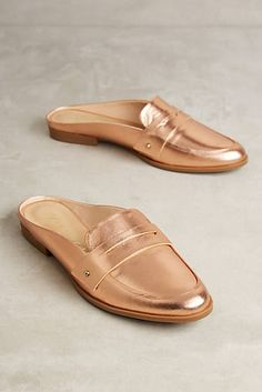 Vicenza Rose Gold Loafer Slides