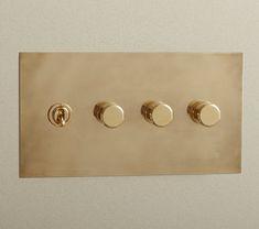 Modern Light Switches, Designer Light Switches, Light Switches And Sockets, Vintage Light Switches, Dim Lighting, Luxury Lighting, Lighting Design, Switch Plate Covers, Light Switch Plates