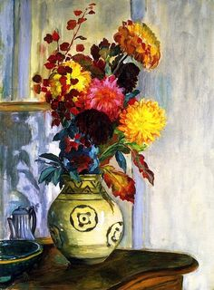 bofransson:  Henri Lebasque - Bouquet of Flowers in a Vase
