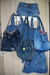 Como hacer un bolso con tu viejo jeans en vídeo :: Cómo reciclar un jeans para hacer un bolso :: Confeccionar un bolso de jeans