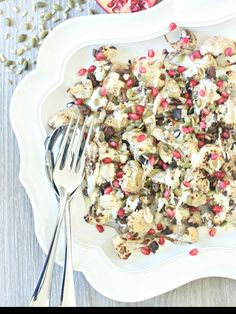 Combi Steam Cauliflower Salad with Dates and Yoghurt Dressing — Steam and Bake