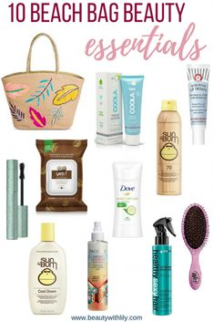 Beach Bag Beauty Essentials // Summer Beauty Must Haves Hitting the beach this summer? Need help packing your beauty bag? These are 10 beach bag beauty essentials you need to carry at all times! Beauty Essentials, Beach Bag Essentials, Travel Essentials, Beach Day, Beach Trip, Beach Vacation Packing List, Beach Camping, Cruise Vacation, Travel Packing