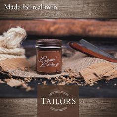 TAILOR'S Beard Balm schützt den Bart und macht ihn weich. Es hilft, das Barthaar zu disziplinieren und eliminiert Krause. Das Barthaar wird geschmeidig und lässt sich besser bürsten und kämmen. Die richtige Bart-Pflege - gemacht für echte Männer. Real Man, Hair Care, Clay, Form, Living Room, Real Men, Bamboo, Surface Finish, Clays