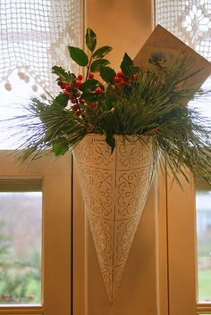 Christmas cone--- gift idea for alternative to stockings