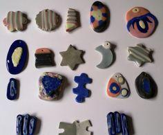 Colgantes porcelana