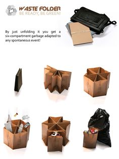 The Waste Folder: Green Living, Anywhere, Anytime by  Akarchitectes    DesignRulz.com