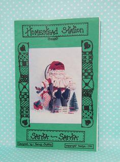 Santa Doll Pattern. Santa-Santa by Homestead Station. UnCut, Complete. Cheap Pattern by FashionSew on Etsy