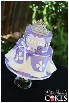 Sofia the First ⚜ cake Princess Sofia Cake, Princess Theme Party, Sofia The First Birthday Cake, 2nd Birthday, Sophia Cake, Princesa Sophia, Soccer Cake, Little Pony Cake, Girly Cakes