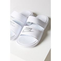 9f6c1bebe Women s Benassi JDI Swoosh Slide Sandals from Finish Line. Nike Benassi Duo Ultra  Slide Sandal ( 40) liked on Polyvore featuring shoes ...