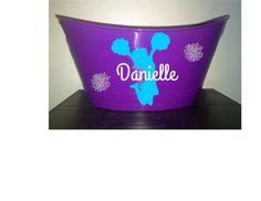 Cheerleade  Personalized Purple Bin Easter by PersonalizedbyDawn