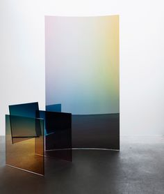 """This collection of """"almost invisible"""" furniture by Amsterdam designer Germans Ermičs is based on a glass chair designed by Shiro Kuramata in the Japan Design, Chair Design, Furniture Design, Wood Furniture, Glass Chair, Laminated Glass, Luxury Chairs, Glass Partition, Curved Glass"""