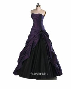 Purple Beaded Sweetheart Neck Ball Gown Princess by fairybridal, $179.00