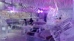 The view in the ChillOut Ice Lounge in Dubai