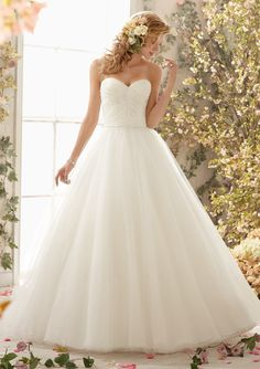 Tulle Ball Gown Wedding Dresses(HM0243)
