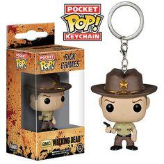 Walking Dead Pocket POP Rick Grimes Vinyl Figure Keychain