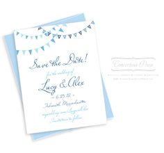 Pennant Beach Wedding Save the Dates - Sample by Concertina Press GOOD FONT & design samples.