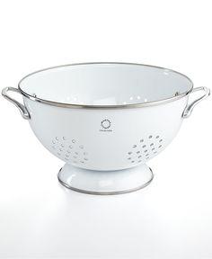 Martha Stewart Collection Enamel on Steel 5 Qt. White Colander, (Only at Macy's) - Kitchen Gadgets - Kitchen - Macy's