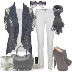 """grey"" by dfanny on Polyvore"