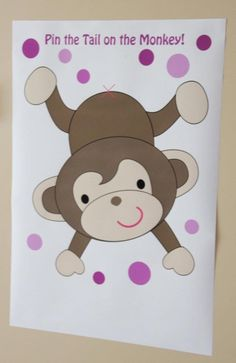 Pin the Tail on the Monkey game - Draw if possible in LSP themed monkey.