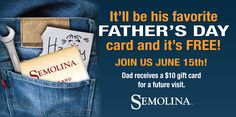 Semolina 2014 Father's Day Banner 3x6ft