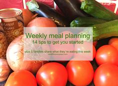 Weekly meal planning: 14 tips to get you started plus 5 families share what they're eating this week - Cardiff Mummy Says Clean Eating Vegetarian, Vegetarian Recipes, Haricot Beans, Family Share, Food Waste, Cardiff, Meals For The Week, Family Meals, Food Food