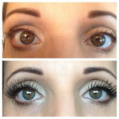 Before and After using 3D Fiber Mascara!  #mascara #cosmetics #eyemakeup