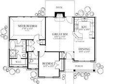 small house plan: 1092 sq ft Floor Plan