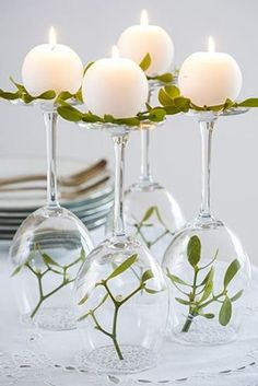 Learn how to make wedding centerpieces from this post and give your decor a facelift. Wedding centerpieces DIY saves you a ton of cash. Wine Glass Centerpieces, Diy Centerpieces, Centerpiece Flowers, Diy Candle Holders, Diy Candles, Candle Wax, Flower Decorations, Wedding Decorations, Table Decorations