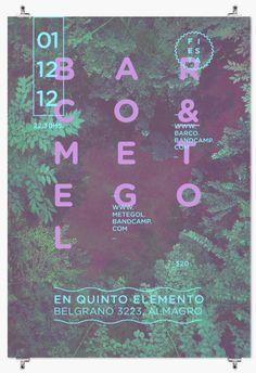 FLYER / Barco + Metegol by Pia Alive, via Behance