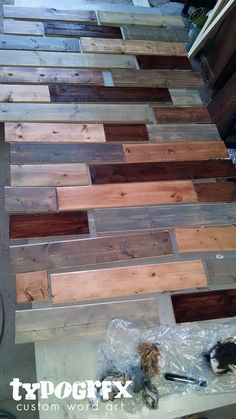 how to install a pallet wall the easy way palettenw nde. Black Bedroom Furniture Sets. Home Design Ideas